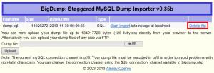 SQLファイル削除