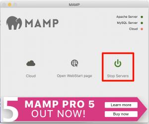MAMP Stop Server