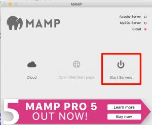 MAMP コントロールパネル