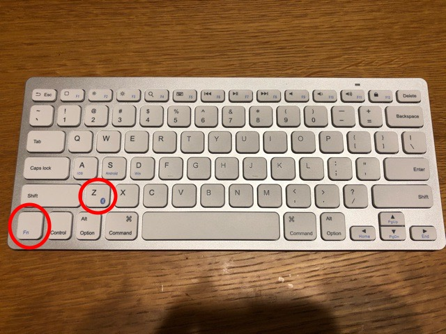 Anker ウルトラスリム Bluetooth ワイヤレスキーボード 【Fn】キーと【Z】キー