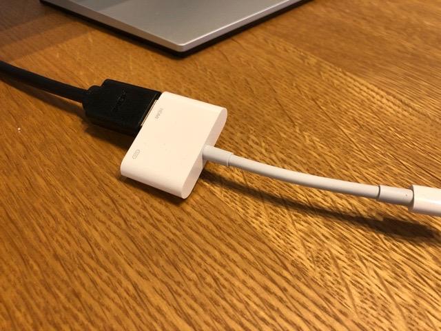 Apple Lightning - Digital AVアダプタで繋げる